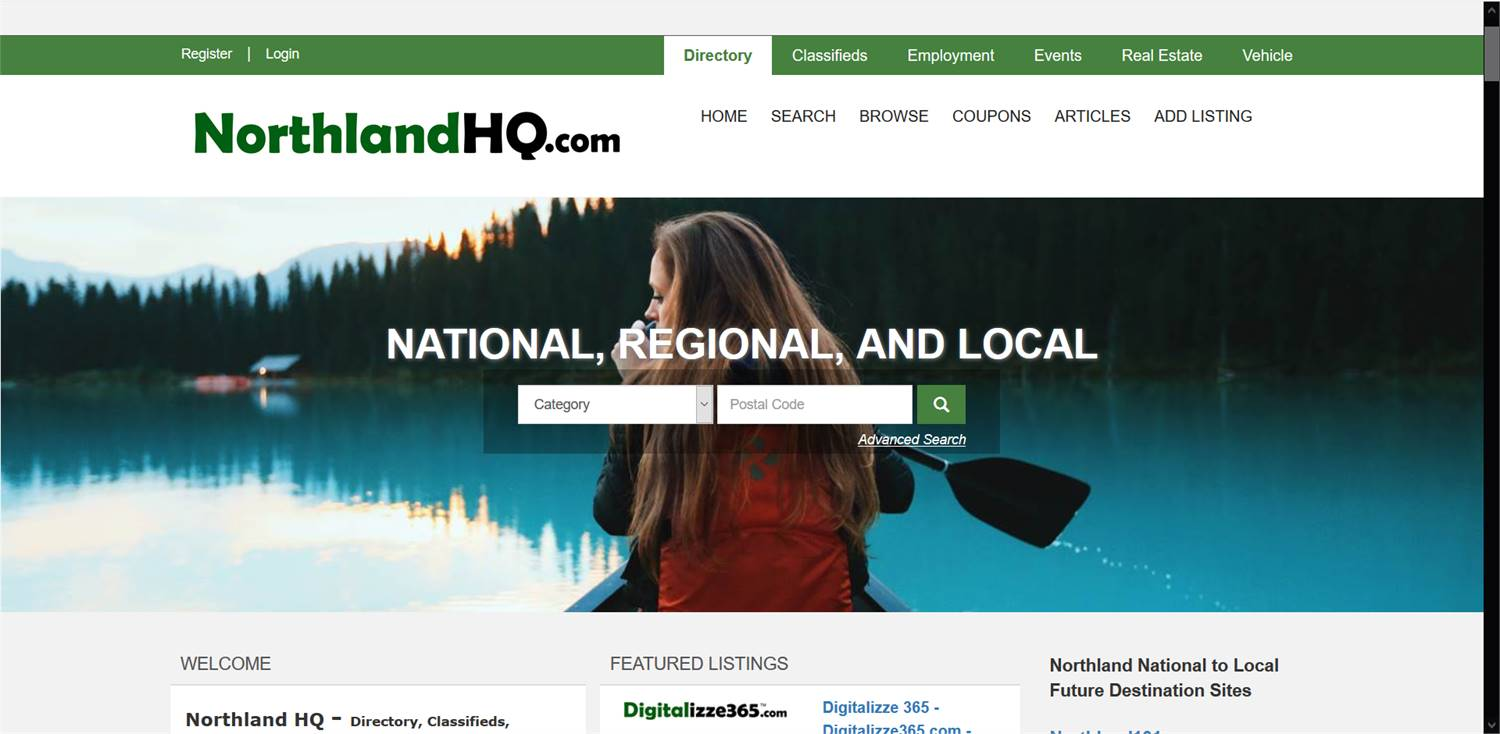 NorthlandHQ.com  - National to local Directory, Classifieds,